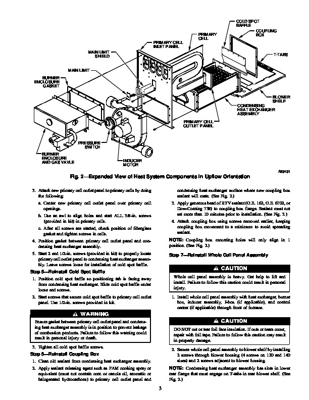 Carrier 58M 47SI Gas Furnace Owners Manual