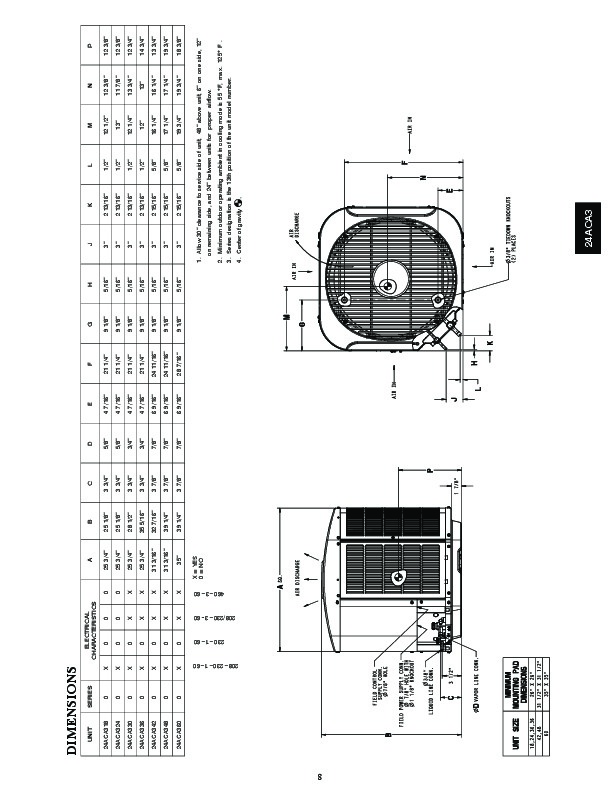 Carrier 24aca3 1pd Heat Air Conditioner Manual