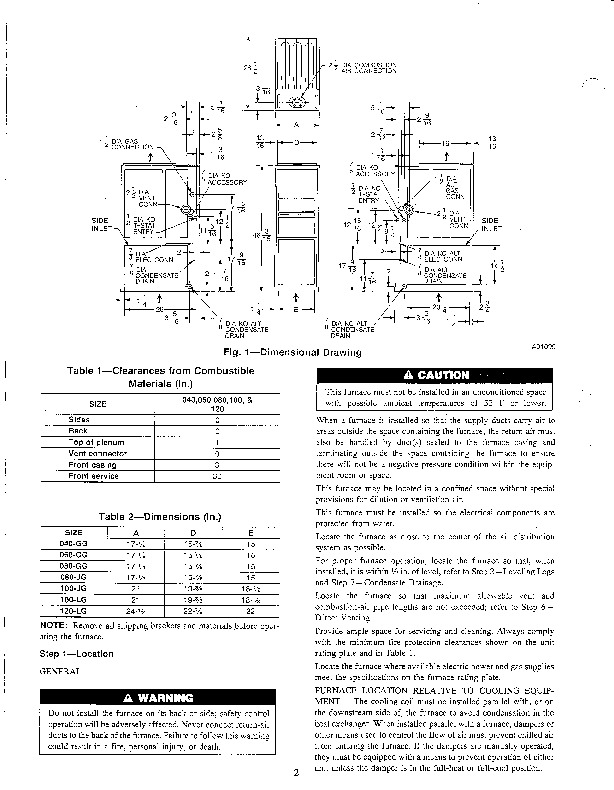 Carrier 58SXC 2SI Gas Furnace Owners Manual