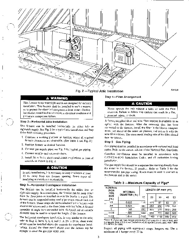 Carrier 58EFA 2SI Gas Furnace Owners Manual