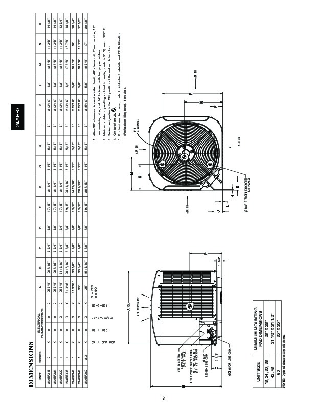 Carrier 24abr3 1pd Heat Air Conditioner Manual