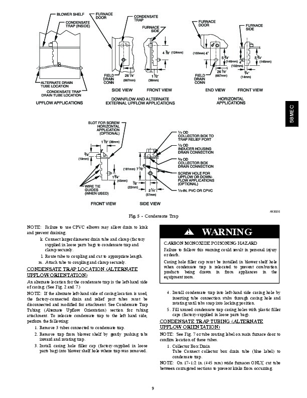 Carrier 58MEC 02SI Gas Furnace Owners Manual