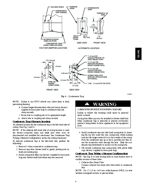 Carrier 58UVB 2SI Gas Furnace Owners Manual