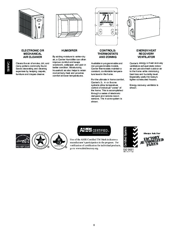 Carrier 58MVC 5PD Gas Furnace Owners Manual