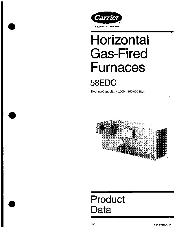 Carrier 58EDC 1PD Gas Furnace Owners Manual