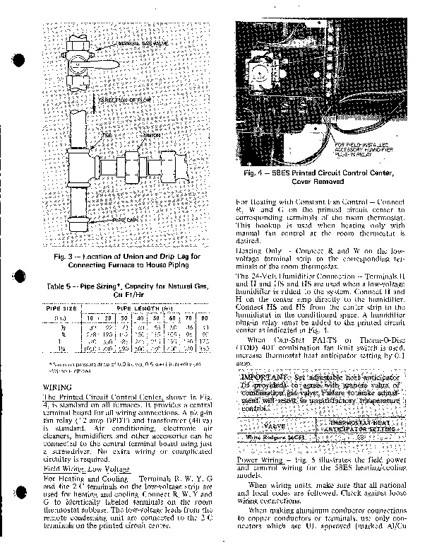 Carrier 58ES 1SI Gas Furnace Owners Manual