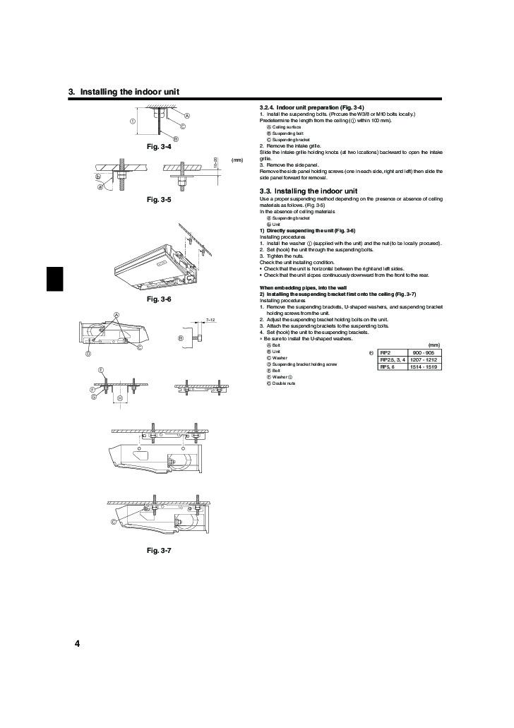 Mitsubishi Mr Slim PCA RP GA Ceiling Suspended Air