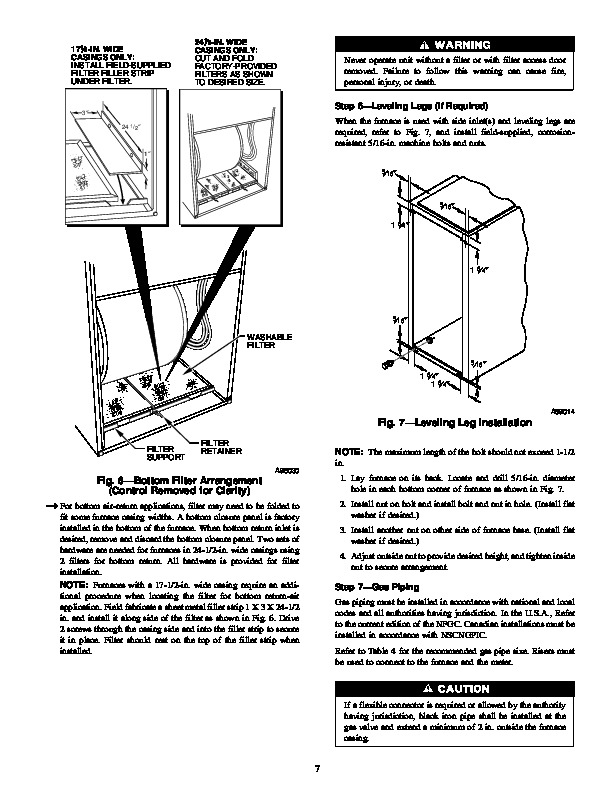 Carrier 58YAV 2SI Gas Furnace Owners Manual