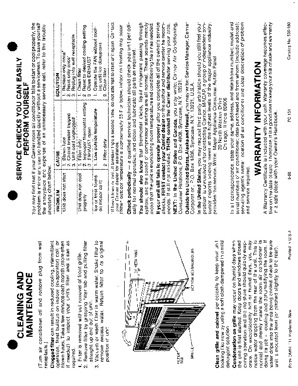 Carrier 51 111 Heat Air Conditioner Manual