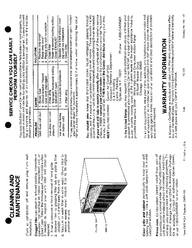 Carrier 51ag 1 Heat Air Conditioner Manual