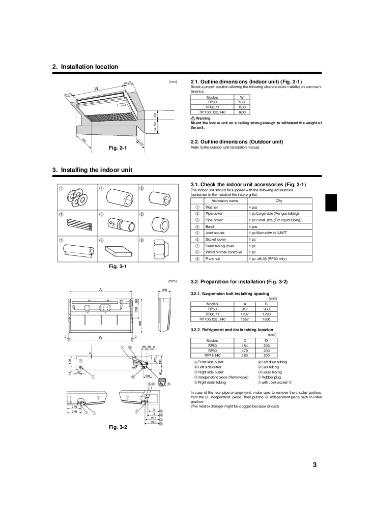 Mitsubishi Mr Slim RG79D451H01 PCH RP KA Ceiling Suspended