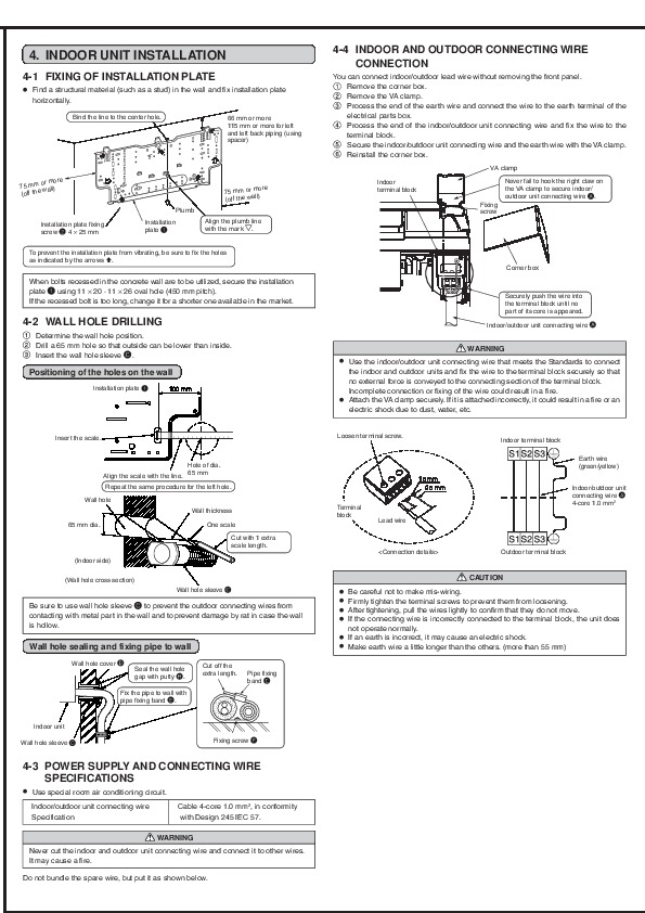 Mitsubishi MSZ GA22 GA25 GA35VA MUZ GA25 GA35VA Wall Air