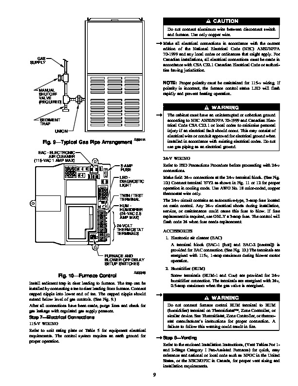 Carrier 58DXT 4SI Gas Furnace Owners Manual