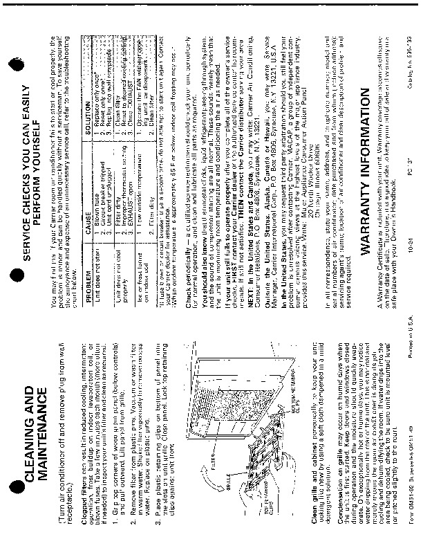 Carrier 51 99 Heat Air Conditioner Manual