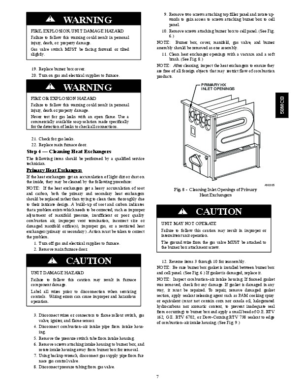 Carrier 58MCB 4SM Gas Furnace Owners Manual