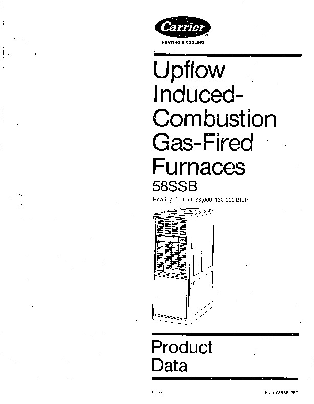 Carrier 58SSB 2PD Gas Furnace Owners Manual