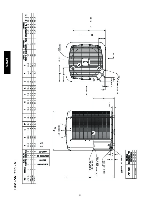 Carrier 24anb1 1pd Heat Air Conditioner Manual