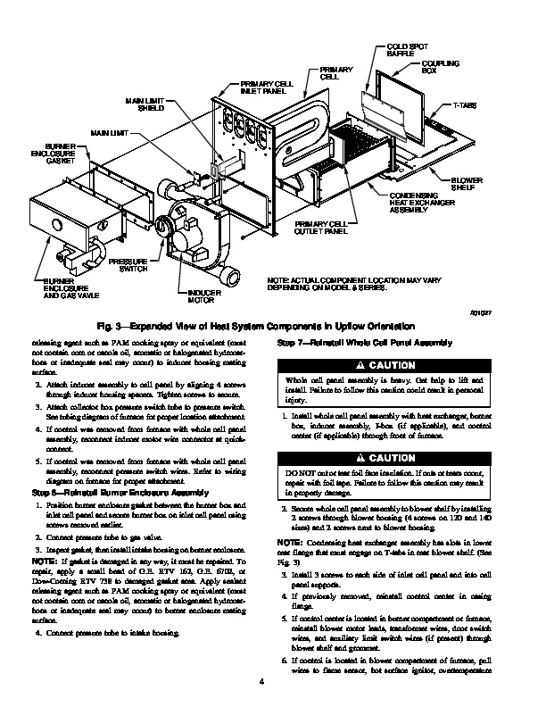 Carrier 58M 86SI Gas Furnace Owners Manual