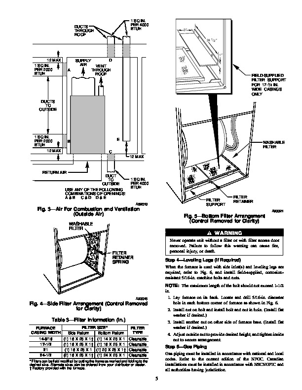 Carrier 58WAV 3SI Gas Furnace Owners Manual