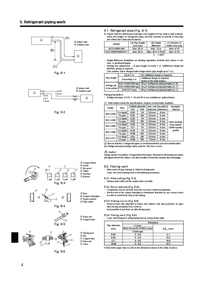 Mitsubishi SUZ KA25 KA35 KA50 KA60 KA71VA2 Air Conditioner