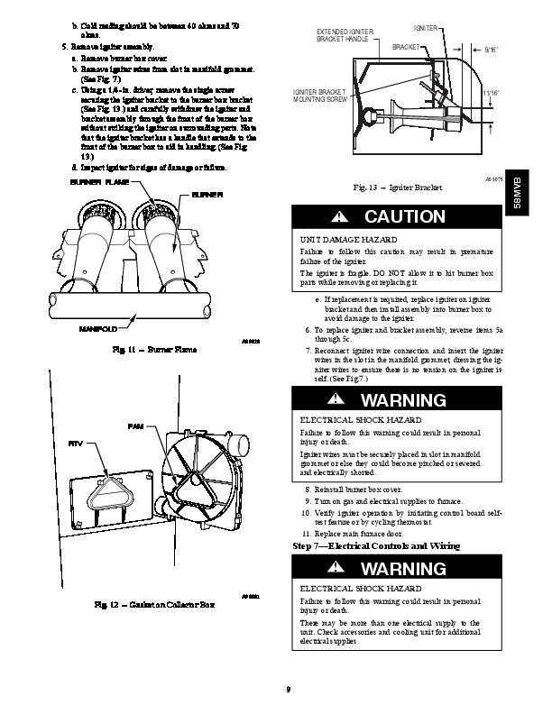 Carrier 58MVB 3SM Gas Furnace Owners Manual