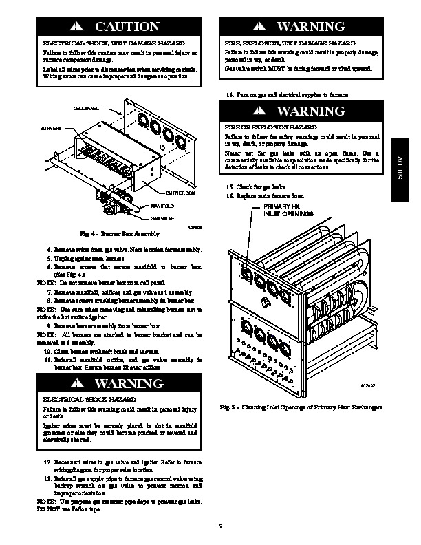 Carrier 58HDV 01SM Gas Furnace Owners Manual