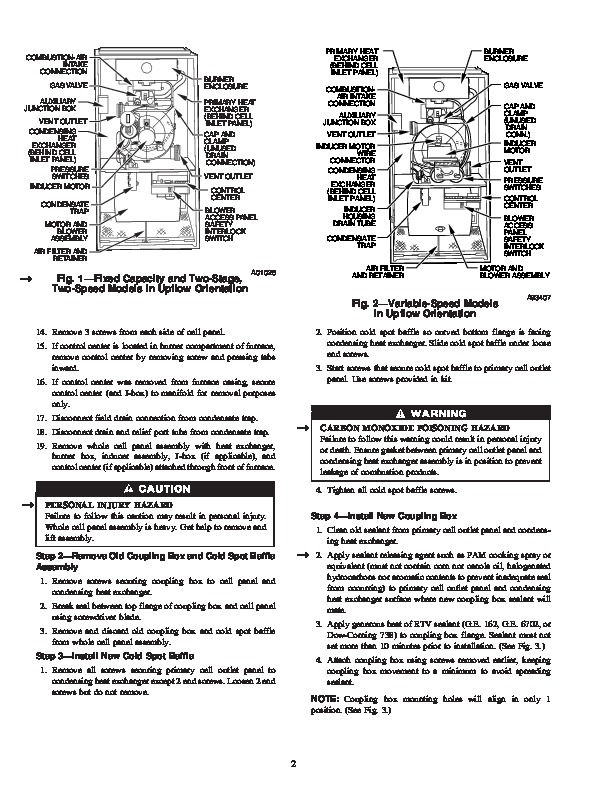 Carrier 58M 105SI Gas Furnace Owners Manual