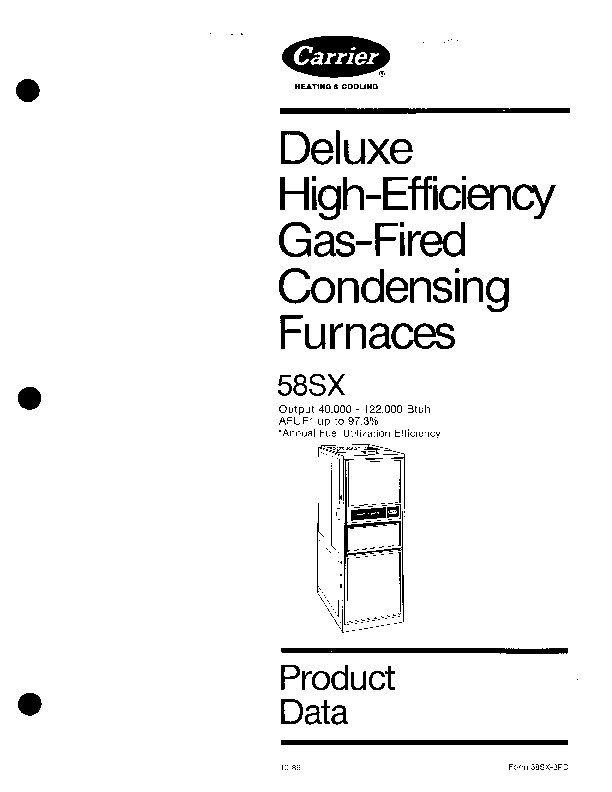 Carrier 58SX 3PD Gas Furnace Owners Manual