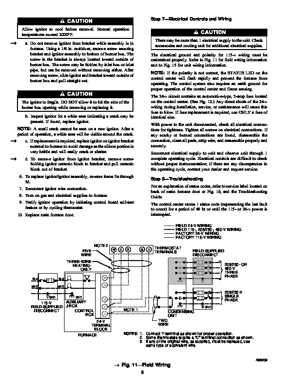 Carrier 58MCA 5SM Gas Furnace Owners Manual