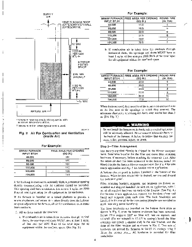 Carrier 58WAV 2SI Gas Furnace Owners Manual