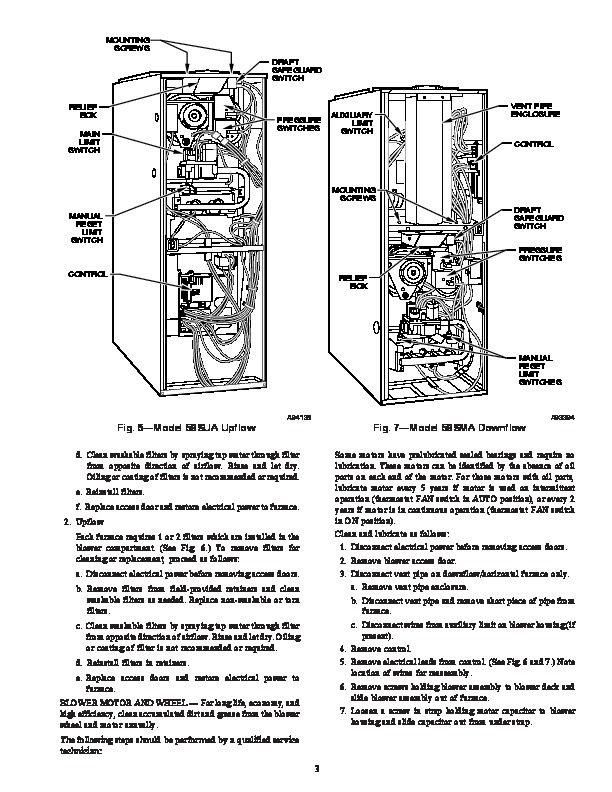 Carrier 58S 1SM Gas Furnace Owners Manual