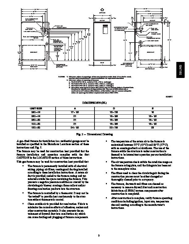 Carrier 58UVB 1SI Gas Furnace Owners Manual
