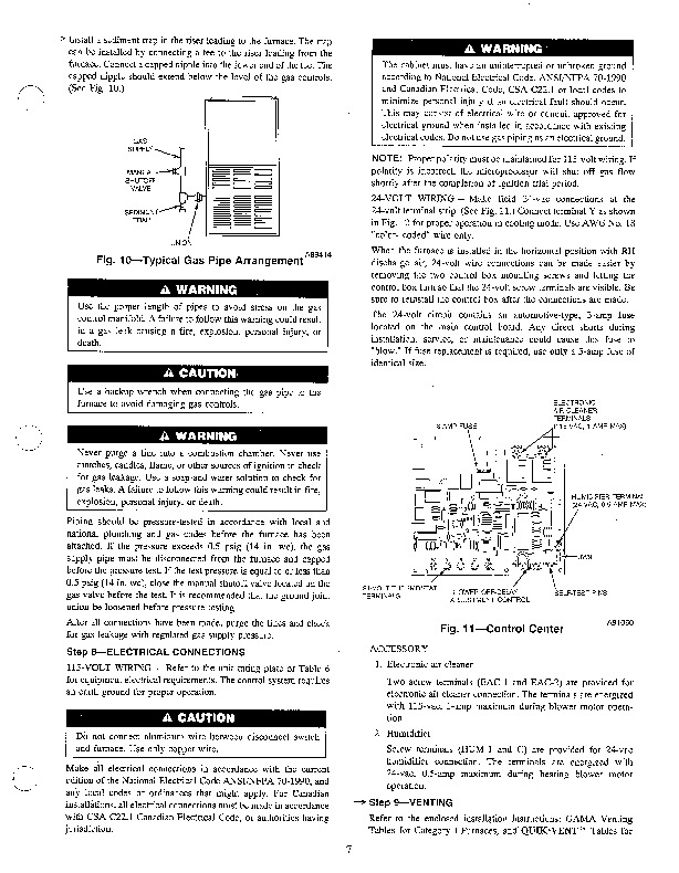 Carrier 58RA 4SI Gas Furnace Owners Manual