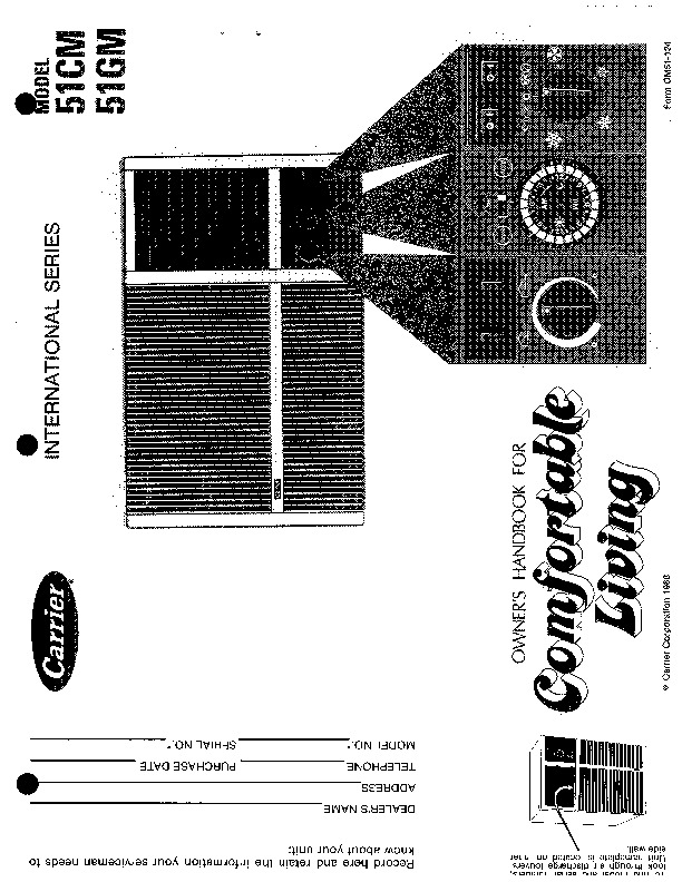 Carrier 51 124 Heat Air Conditioner Manual