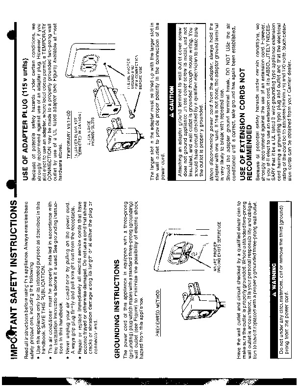 Carrier 51 120 Heat Air Conditioner Manual