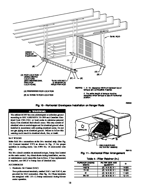 Carrier 58ZAV 11SI Gas Furnace Owners Manual