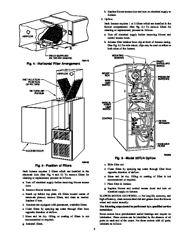 Carrier 58T 2SM Gas Furnace Owners Manual