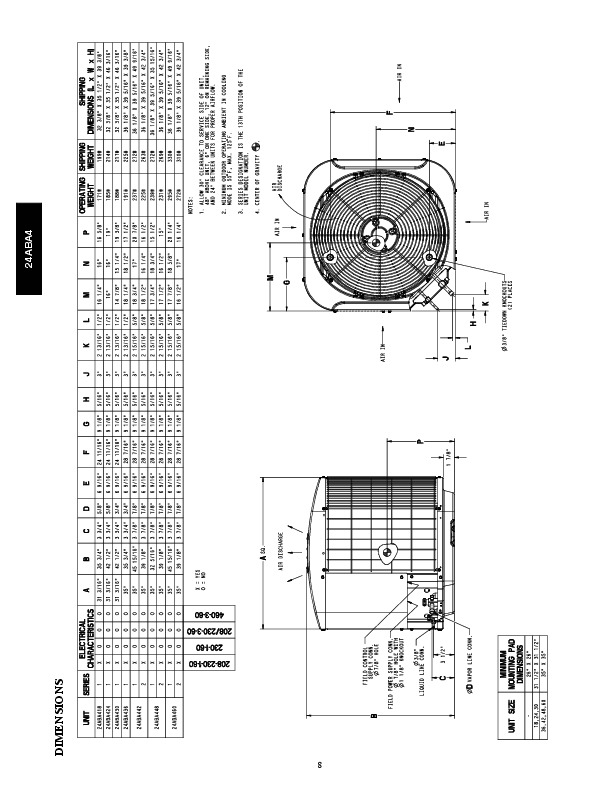 Carrier 24aba 4 2pd Heat Air Conditioner Manual