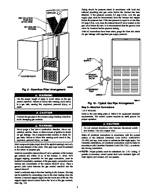 Carrier 58RA 7SI Gas Furnace Owners Manual