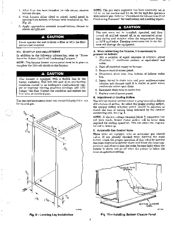 Carrier 58SXB 5SI Gas Furnace Owners Manual