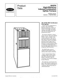 Carrier 58GFA 2PD Gas Furnace Owners Manual