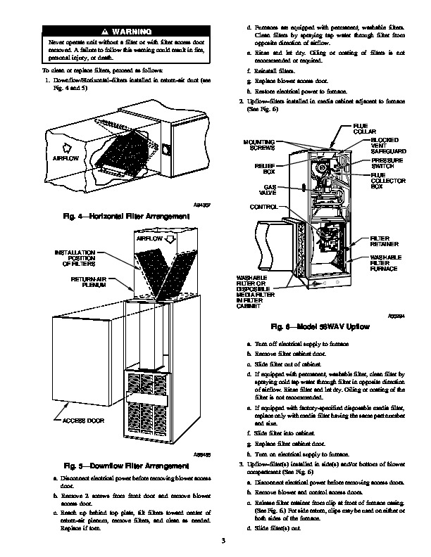 Carrier 58W 58Z 9SM Gas Furnace Owners Manual