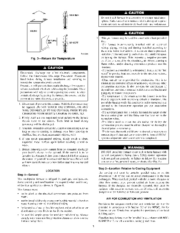 Carrier 58DL 2SI Gas Furnace Owners Manual