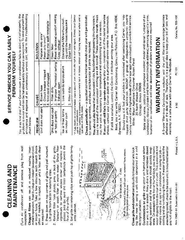 Carrier 51 94 Heat Air Conditioner Manual