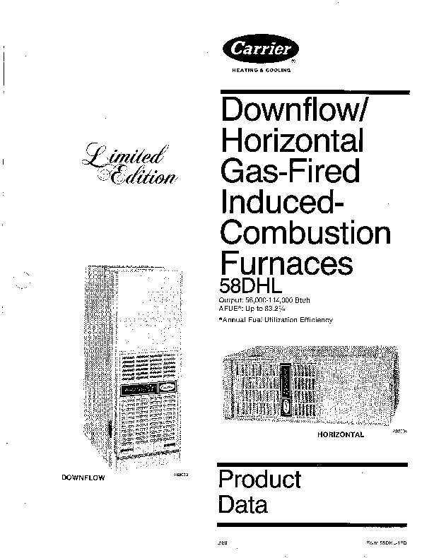 Carrier 58DHL 1PD Gas Furnace Owners Manual