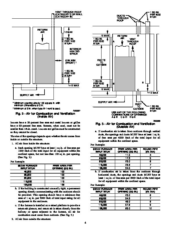 Carrier 58ZAV 4SI Gas Furnace Owners Manual