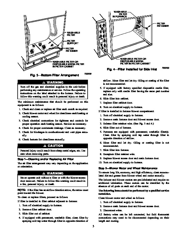 Carrier 58MTA 1SM Gas Furnace Owners Manual