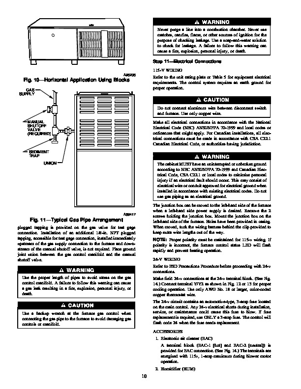 Carrier 58UXT 4SI Gas Furnace Owners Manual