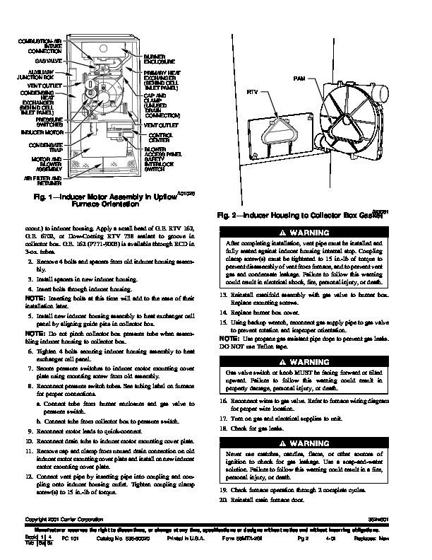 Carrier 58MTA 2SI Gas Furnace Owners Manual