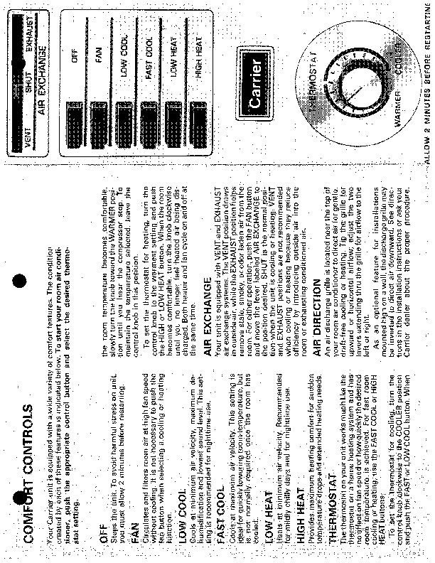 Carrier 51 93 Heat Air Conditioner Manual